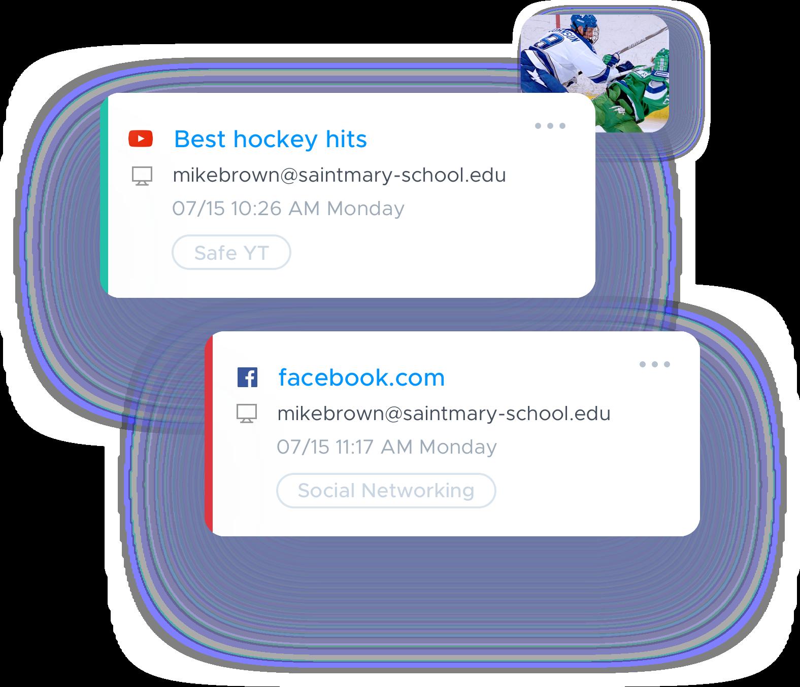 View online activity